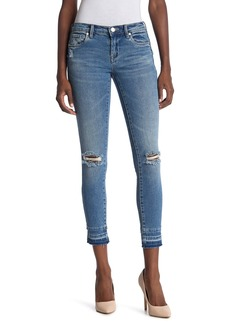 Blank Released Hem Ripped Skinny Jeans