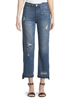 Blank Released-Hem Straight Leg Jeans