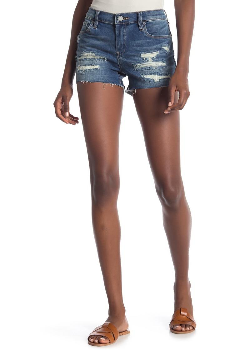 Blank Rip and Repair Denim Shorts