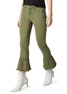 Blank Ruffled-Cuff Slim Leg Utility Pants