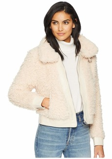 Blank Shag Faux Fur Jacket in Cloud Nine