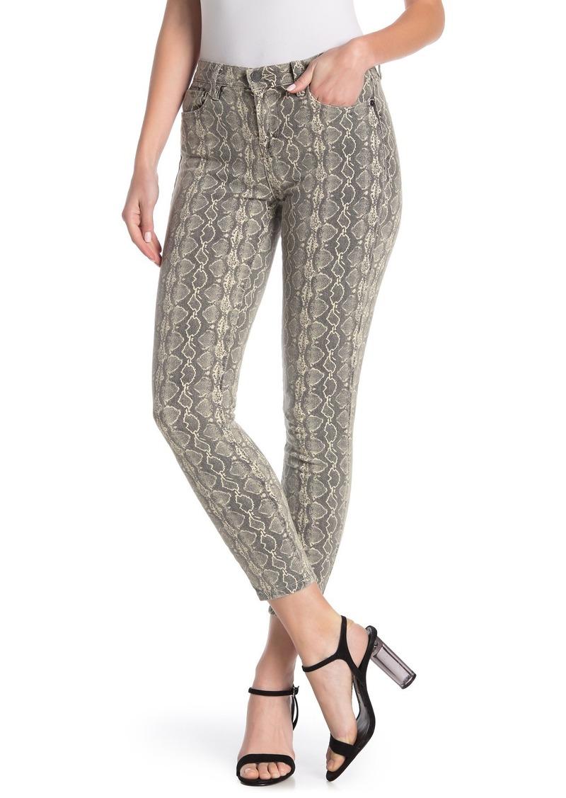 Blank Snake Print Skinny Jeans