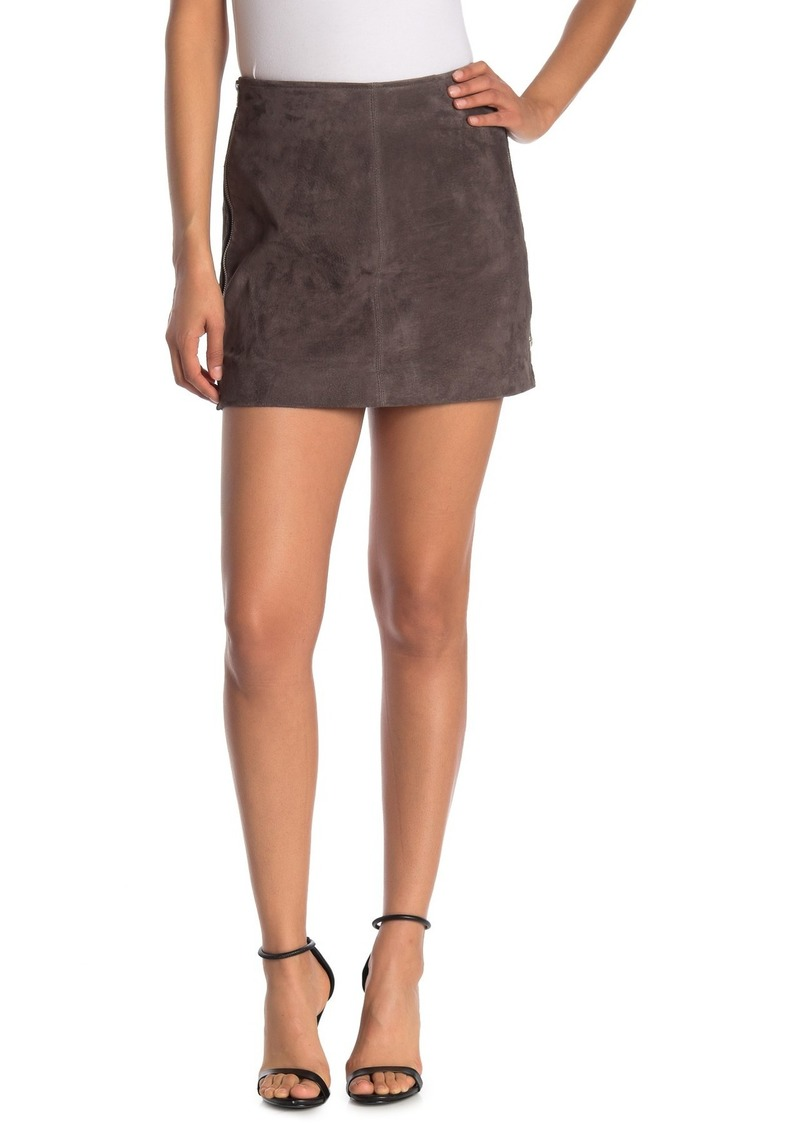 Blank Suede Mini Skirt