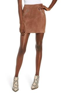 Blank Suede Miniskirt