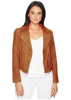 Blank Suede Moto Jacket w/ Fringe