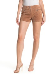 Blank Suede O-Ring Shorts