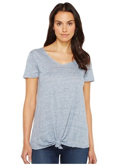 Blank Tee Shirt with Knot Detail in Believe It or Not