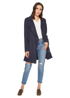 Blank Tencel Short Lightweight Trench in High Seas