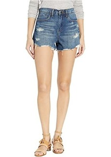 Blank The Barrow High-Rise Distressed Shorts in After Shock