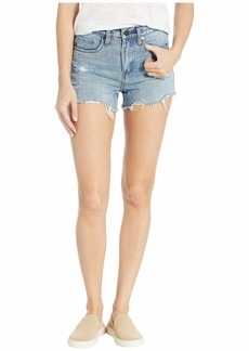 Blank The Barrow High-Rise Distressed Shorts in Top Notch