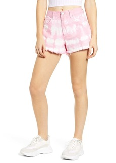 Blank The Barrow Tie Dye Denim Shorts (Bubble Pink)