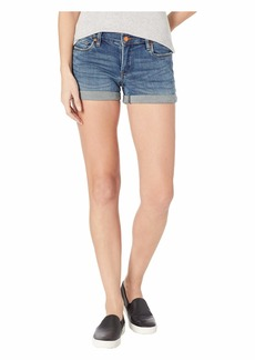 Blank The Fulton Denim Roll Up Shorts in Blue Steel
