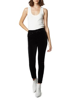 Blank The Grand Dame Velvet High-Rise Ankle Pants