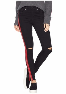 Blank The Great Jones High Rise Skinny with Red Zipper Detail in District 9