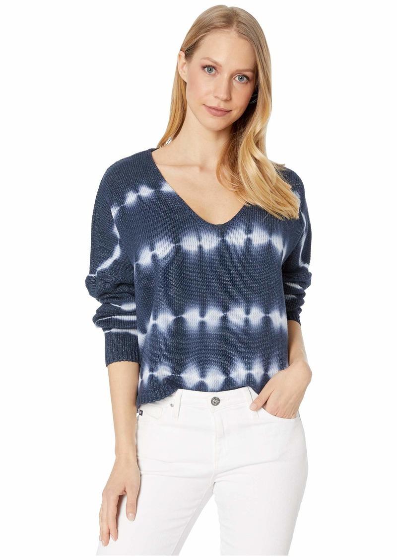 Blank Tie-Dye V-Neck Sweater