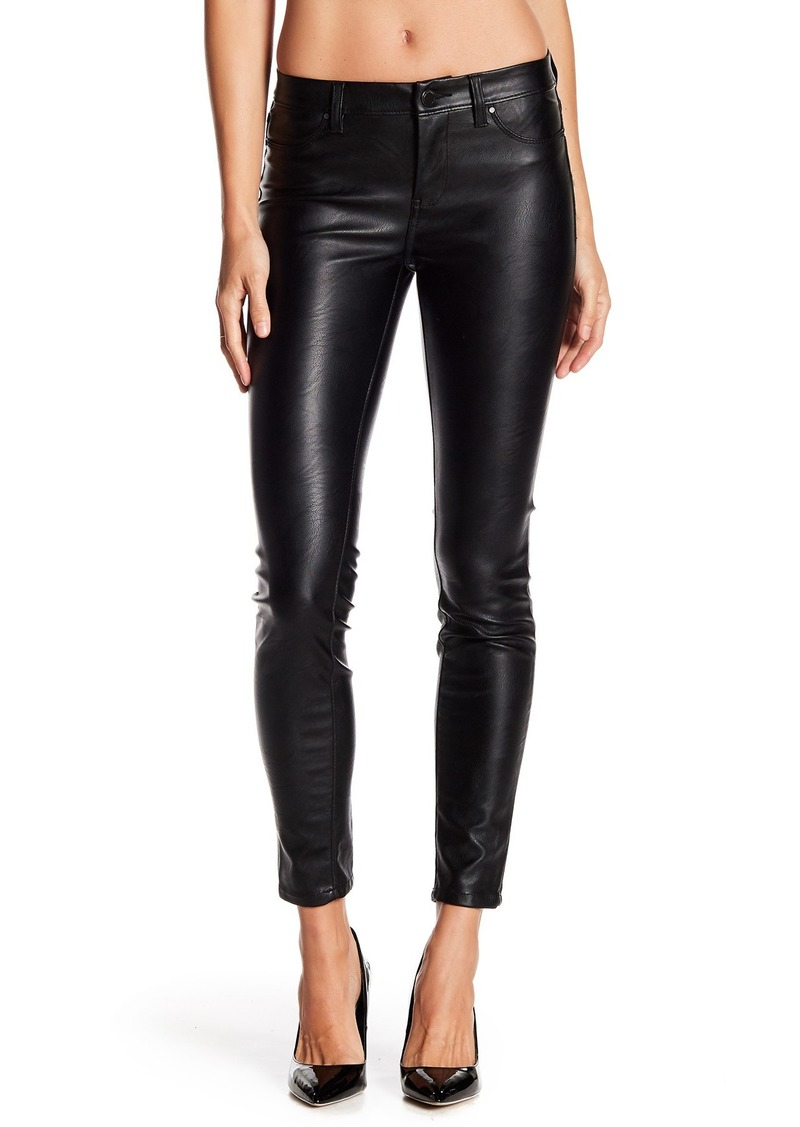 Blank Faux Leather Skinny Jeans