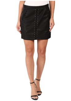 Blank Vegan Leather Lace-Up Skirt in Boys Soul