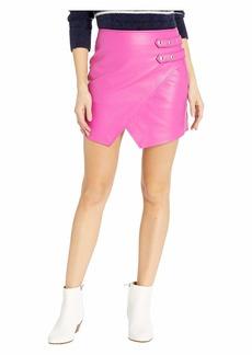 Blank Vegan Leather Mini Skirt in Girls Night Out