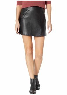 Blank Vegan Leather Mini Skirt in Latch On