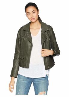 Blank Vegan Leather Moto Jacket in Marry Jane