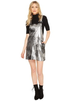 Blank Vegan Leather Overall Dress in Now or Never