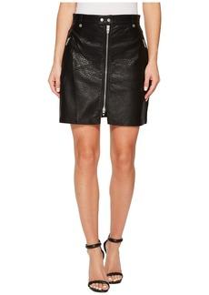 Blank Vegan Leather Zipper Detail Skirt in Sweet Talker
