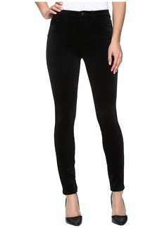 Blank Velvet Black High-Rise Skinny in The New Black