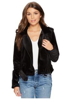Blank Velvet Moto Jacket in Dark Side