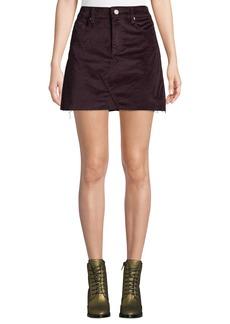 Blank Wine Buzz Velvet Mini Skirt