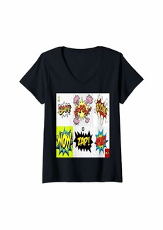 Womens Blank Comic Book For Kids And Adults Art Activity Cartoon V-Neck T-Shirt