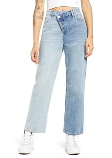 Women's Blanknyc Two-Tone Baxter Straight Leg Jeans