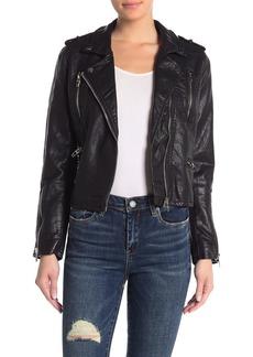 Blank Faux Leather Moto Jacket