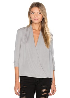 BLAQUE LABEL Faux Wrap Blouse