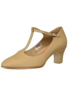 "Bloch Dance Women's Chord T-Bar Strap 2"" Shoe tan 8.5 Medium US"