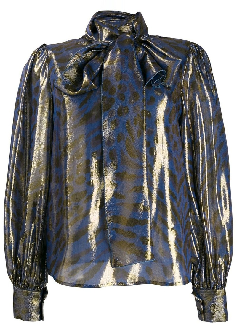 Blumarine animal print blouse