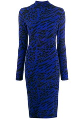 Blumarine animal print midi dress