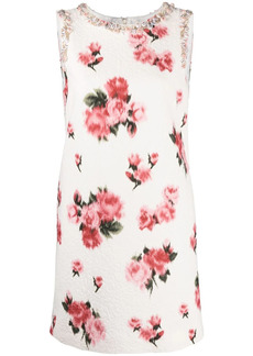 Blumarine bead-embellished floral dress