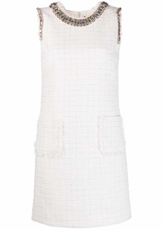 Blumarine bead-embellished tweed dress