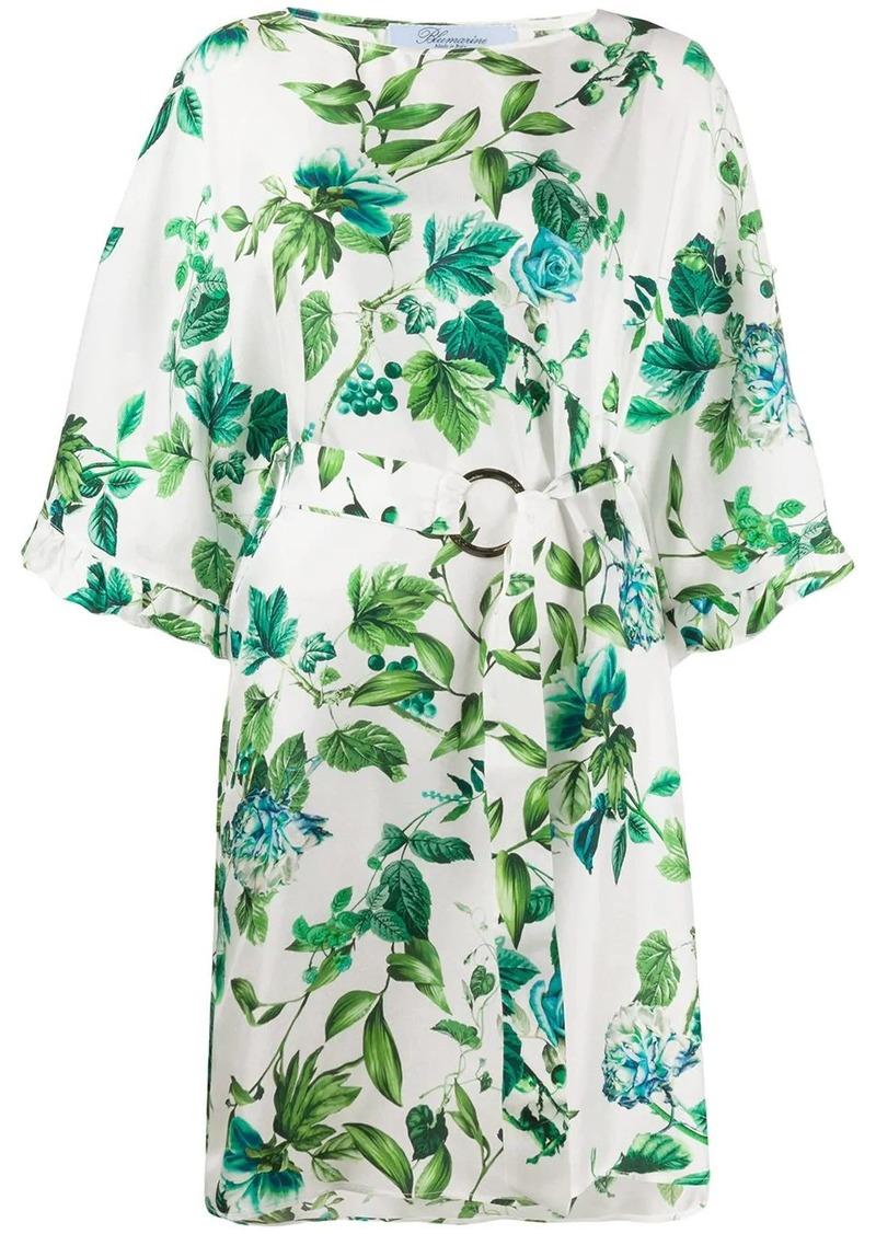 Blumarine belted floral print dress