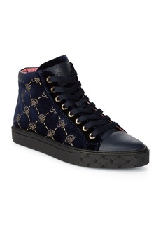 Blumarine Leather Hi-Top Sneakers