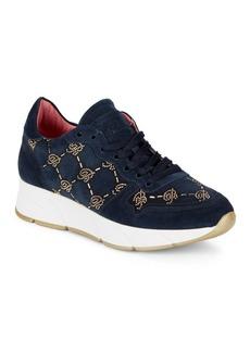 Blumarine Suede Beaded Sneakers