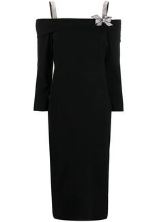 Blumarine cold shoulder dress