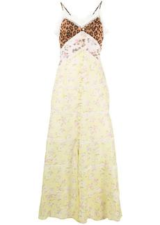 Blumarine contrast-panel maxi dress