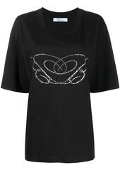 Blumarine crystal applique T-shirt
