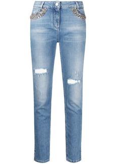 Blumarine embellished skinny jeans