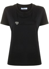 Blumarine embroidered crew neck T-Shirt