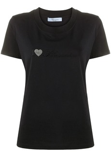 Blumarine embroidered crew neck T-Shirt