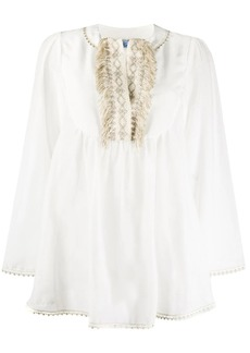 Blumarine embroidered fringe tunic