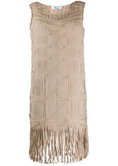 Blumarine embroidered shift dress