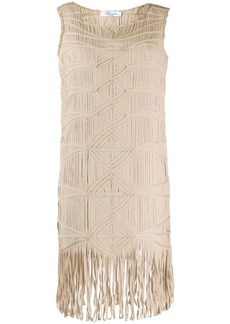 Blumarine embroidered shift dress